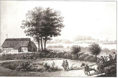 Fanefjords redoute. Tegnet af S.L. Lange i 1812. Redouten blev opført i 1811 med 3 kanoner, 2 mod syd og 1 mod sydvest. Huset i forgrunden var indkvartering, om vinteren opholdt mandskabet sig i Hårbølle By.