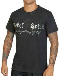 Rebel Spirit Rhinestone Crown Shirt (Black)