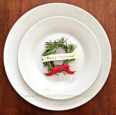 Rosemary Wreath Place Card