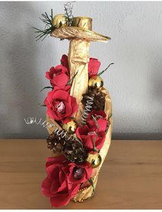 Botella de champán para regalar en navidad Vase, Ideas, Home Decor, Someone Like You, Champagne Corks, Christmas Decor, Homemade Home Decor, Flower Vases, Jars