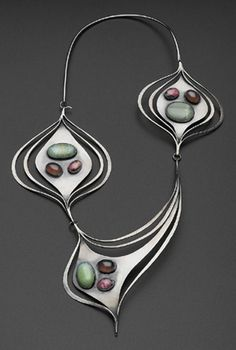 Necklace of sterling and semi-precious stones by Art Smith, c. 1958 (Museum of Fine Arts, Boston)