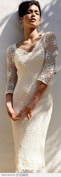 vestido modelo classico em croche