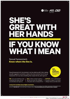 Australian Anti-Sexual Harassment Campaign Highlights The Line That Shouldnt Be Crossed
