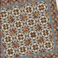 Autumn Glory Star Quilt pattern from In The Beginning Fabrics by Jason Yenter