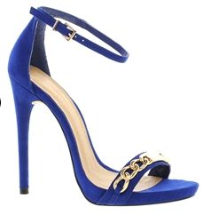 Sandalias de tacón HIGH LIFE de ASOS #asos #sandals #shoes #zapatos #tacon #blue #fashion #moda