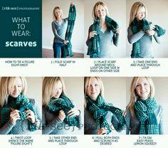 Como poner una bufanda
