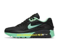 outlet store 6786c b4f3e Nike Air Max 90 Ultra SE Chaussures Nike Baskets 2019 Pas Cher Pour Femme  Noir Vert