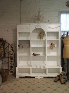 Painted Cottage Shabby White Farmhouse China by paintedcottages, $795.00