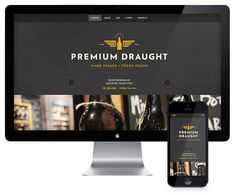 Premium Draught website designed by Always Creative.