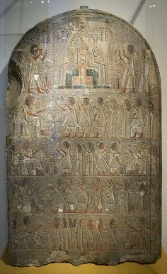 stele of the writer of the treasure house, Hoey (RMO Leiden, 19d, ~1300bc) by koopmanrob, via Flickr