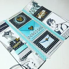 Tiffany blue snail mail flipbook