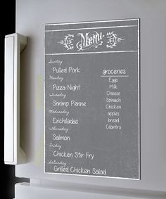 Dry erase board wall menu. I wish there was more pasta on here.