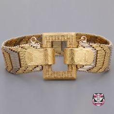 Vintage Signed Gold Bracelet