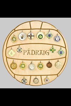 Our personalised Gaelic Football medal display. Head to www.touchwood.ie to get yours!