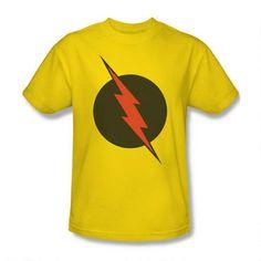 The Flash Reverse-Flash Logo Adult Yellow T-shirt