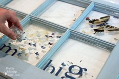 What a great blogger did with an old curbside window that she turned into a unique piece of art using a product that ETI sent her. The product is called EnviroTex Lite and it is a high glossresin polymer compound used for sealing and protecting arts, crafts, jewelry, countertops and more