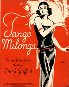 Illustrated Sheet Music by N. G. Granath, 1922, 'Tango Milonga'. (Sweden)