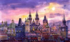 Prague City Of Hundres Spiers Variant Painting