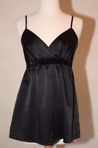 Express Black Babydoll Sz s 4 6 Spaghetti Strap V Neck Sequin Top Blouse Shirt | eBay