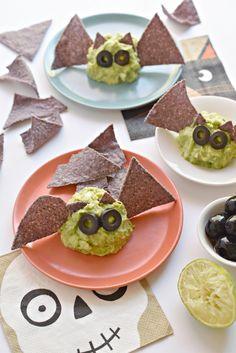 Guacamole Halloween Bats