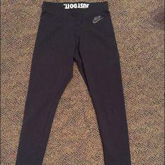 "Nike ""Just Do It"" Leggings Super comfy and never worn. Nike Pants Leggings"