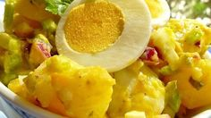 This is potato salad the old-fashioned way, with eggs, celery and relish.
