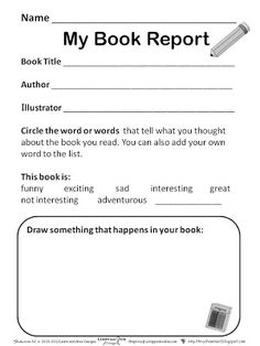 FREE Simple Book Report K  th Grade  subscriber freebie    Simple     Time For Kids