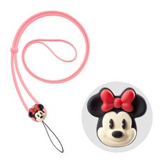 Bone Collection Disney Minnie Mouse Lanyard Neck Strap For Phone / MP3-4 / Camera / PSP and other Electronic Devices, PINK