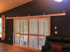 Rolling Shutters For Glass Sliding Doors Sliding Glass Door Shutters, Sliding Door Coverings, Door Window Covering, Sliding Door Window Treatments, Window Coverings, Sliding Doors, Barn Doors, Shutter Doors, Arched Windows