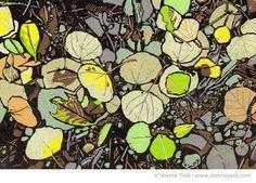 Leaf Litter linocut