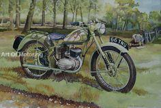 """Foto: Ilustración de Roy Barrett titulada """"Brummie legend"""", del que puedes conocer más desde la sección de #culturabiker de #DesguaceWeb http://desguaceweb.com"""