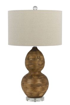 "Bergamo 3 Way 28.5"" H Table Lamp with Drum Shade"