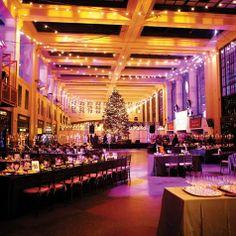 Reception lighting - purple and gold