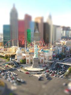 New York, New York - Vegas tilt shift