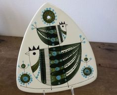 Vintage Mid Century Modern Rorstrand Paradis Trivet Board Plaque Plate Bird | eBay