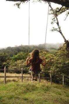 On a swing, enjoying the nature Country Life, Country Girls, Country Living, Country Roads, Vie Simple, Foto Pose, Plein Air, Farm Life, Photos