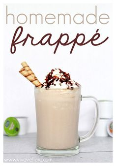 Homemade Frappe Recipe. So good for an afternoon pick-me-up!