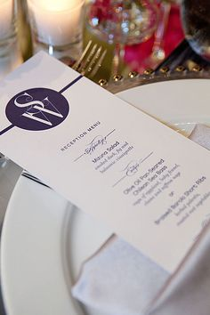 menu cards for each place setting or each table - Table Place Cards