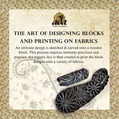 Witness the aesthetic art of Block Printing where a design is carved on a wooden block and applied on a fabric with an organic blue dye/ ink and then stamped on cloth for embroidery #Ada #Adachikan #Chikankari #Handmade #AdaDesignerChikanStudio #OnlineShopping #LucknowiChikankari #collection #trending #knowyourcraft #style #india #official #indiancrafts #lucknowchikan #fashion #culture #indianclothing #blockprinting