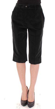 Black cotton shorts pants