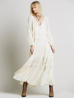Cream with crochet lace inset - so lovely! {Free People Midnight Sun Dress, AU$259.62}