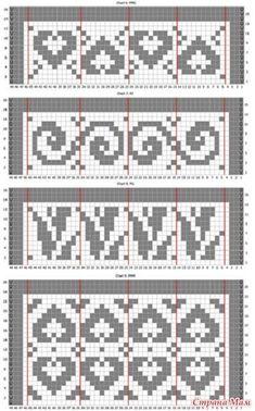 Tapestry Crochet Patterns, Fair Isle Knitting Patterns, Fair Isle Pattern, Bead Loom Patterns, Crochet Stitches Patterns, Knitting Charts, Crochet Chart, Filet Crochet, Knitting Stitches