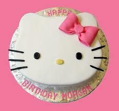 hello kitty birthday party ideas for girls - might try my hand at making a cake!