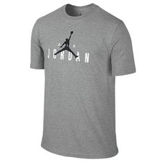 Nike Air Jordan Jumpman Retro Branded Tee Mens Grey T-Shirt Size