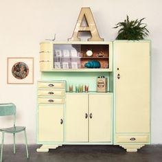 La credenza anni 39 50 della mia cucina recuperata e decorata da me home sweet home - Credenze cucina anni 50 ...
