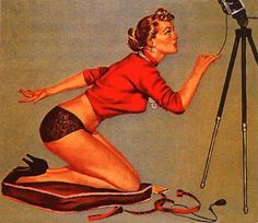 ~Vintage pin-up by Al Buell.