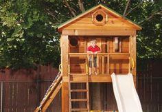 projeto gratuito no blog: Ah! E se falando em madeira...: Play Groud com cabana