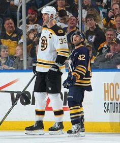 """The tallest man in the NHL vs the shortest man in the NHL Zdeno Chara @ 6'9"""" vs Nathan Gerbe @ 5'5""""  This seems unfair, doesn't it?"""