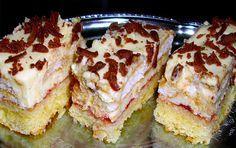 Velmi chutný zákusek, který připravíte bleskově. Samozřejmě i z plechu zmizí za pár minut. Autor: IvanK Sweet Recipes, Cake Recipes, Dessert Recipes, Albanian Recipes, Cheesecake, Mets, Calories, Beignets, Nutella