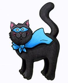 I Like Markers: Coloring a black cat